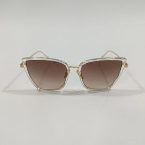 Accessories - Brown Gold Lens Cat Eye Sunglasses